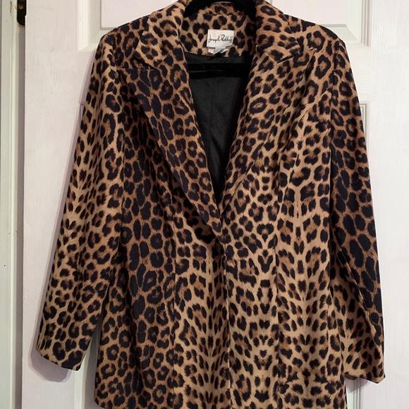 Cheetah Print Lined Blazer